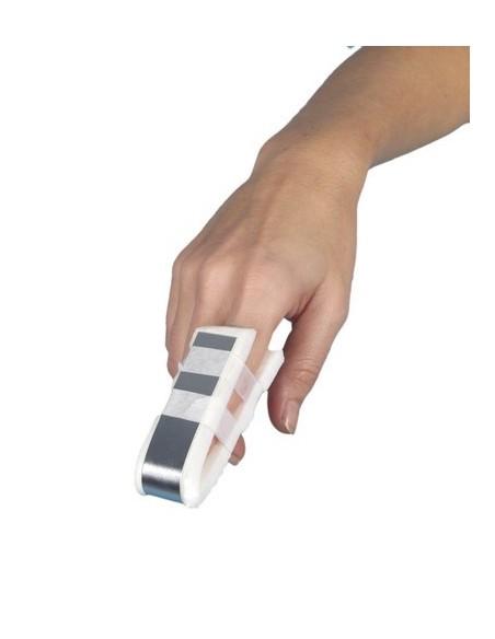 Férula de aluminio para dedo.Medidas 10 x 2 cm.