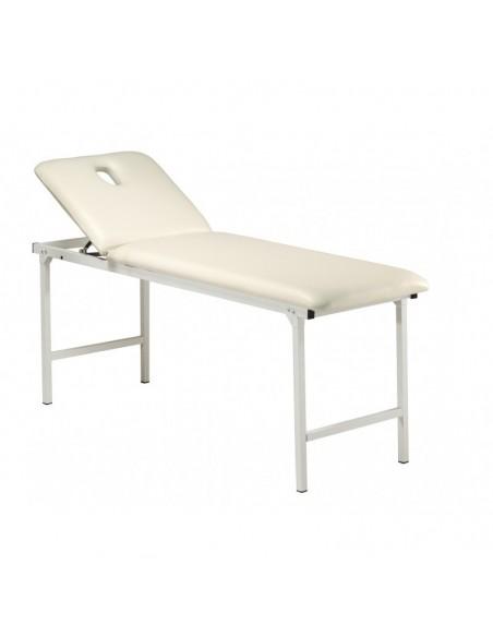 Camilla metálica fija con patas plegables color blanco.Todo tipo de tratamientos.
