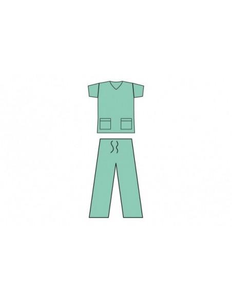 Pijama quirúrgico desechable no estéril. Talla L
