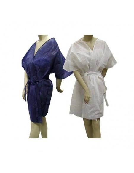 Bata desechable kimomo color azul. Bolsa 10 uds