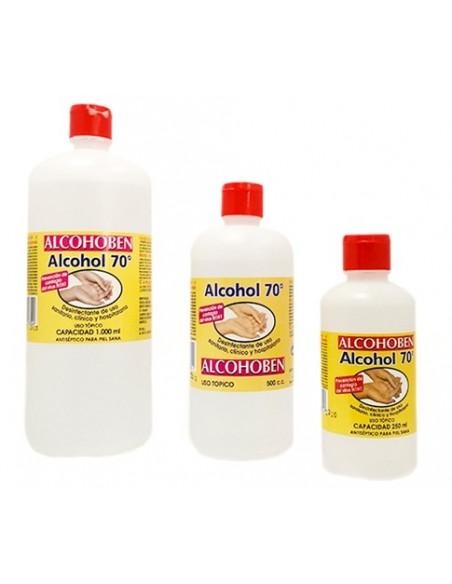 Alcohol de 70º. Envase 1000 ml