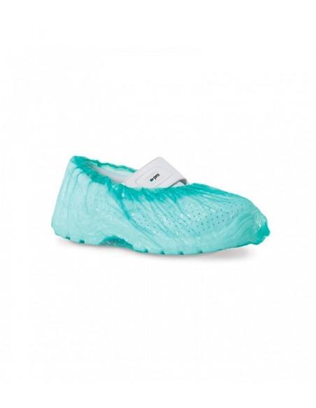 Cubrezapatos desechable de plástico verde 100 uds