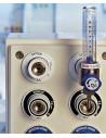Caudalimetro oxígeno con flotámetro 0-15 l/m.Conexión CM
