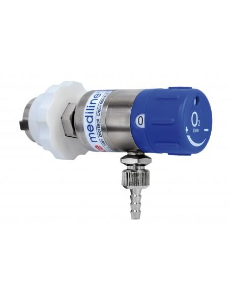 Caudalimetro oxigeno toma de pared.Conexion AFNOR.Regulacion 0-25 l/m