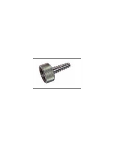 Conector-adaptador para conexión manguera a caudalimetro de oxigeno y vacio.