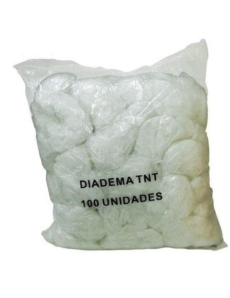 Diadema ancha tejido no tejido color blanco.100 Uds