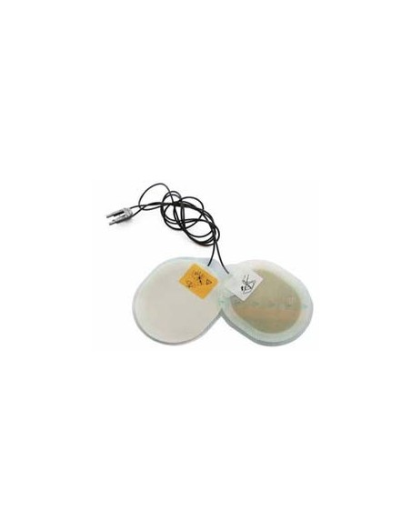 Electrodos adulto compatible con desfibrilador Zoll.Radiotransparente con Cable fuera