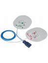 Electrodos adulto compatible con desfibrilador Nihon Kohden,Welch Allyn, Innomed,y Draeger.Radiopaco con cable dentro