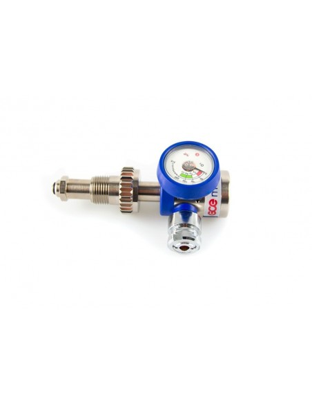 Regulador de presion fija para botella de oxigeno.
