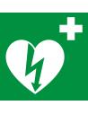 Señal indicadora de Desfibrilador adhesiva