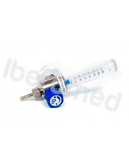 Caudalimetro oxígeno con flotámetro 0-15 l/m.Conexion AFNOR