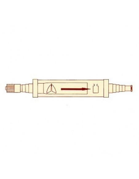 Válvula Heimlich con conectores Luer-Lock para Pleurocath