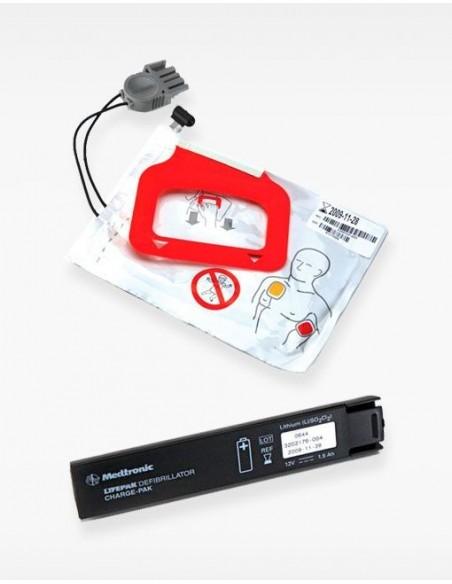 Kit de batería de litio + electrodos adulto Life Pack CR Plus