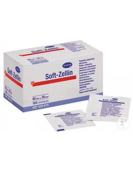 Toallita alcohol isopropílico al 70 % Soft Zelllin.100 uds