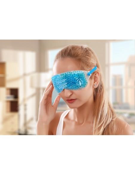 Máscara facial relajante frío-calor azul