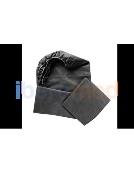 Sabanilla ajustable negra camilla 95 cm x 220 cm.Bolsa 5 uds