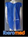 Bata paciente sin mangas 30 gr. Azul claro