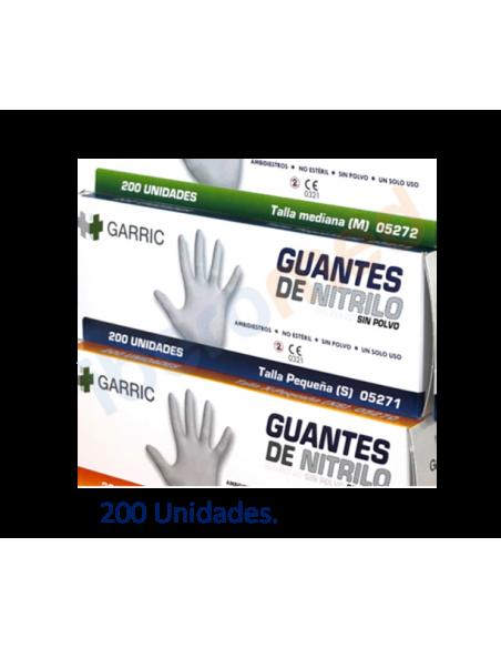 200 Guantes nitrilo sin polvo alta calidad