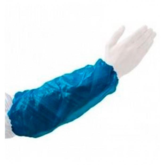 Manguito desechable azul. Plástico. 100 Uds.