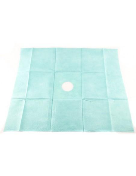 Paño quirúrgico 50 x 60 cm fenestrado adhesivo 6 cm 2