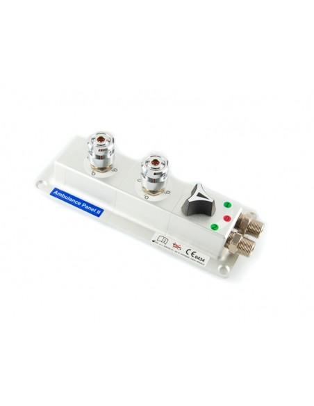 Panel de superficie con dos tomas AFNOR oxigeno + Selector 1