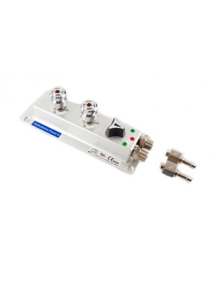 Panel de superficie con dos tomas AFNOR oxigeno + Selector 2