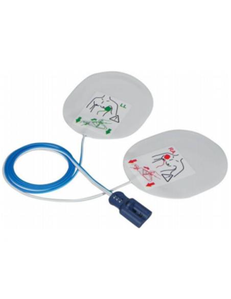 Electrodos adulto compatible con desfibrilador Zoll. Radiopaco con Cable fuera 2
