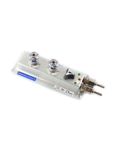 Panel de superficie con dos tomas AFNOR oxigeno + Selector 3