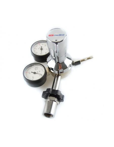 Regulador presión variable botella gas comprimido tipo U.Valido para protoxido 1