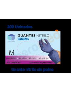 200 Uds Guante de nitrilo sin polvo