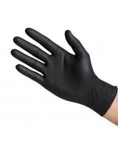 Guantes latex negro sin polvo