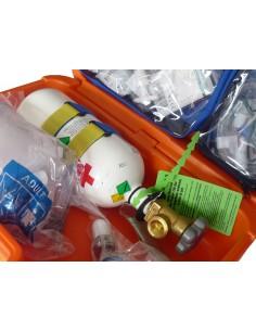 Maletín oxigenoterapia con botella 02 cargada iberomed