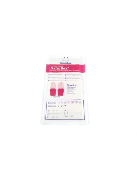 Guante quirúrgico estéril Naturflex latex SP talla 6.5 ( S ) 2