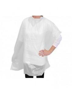 Capa para tinte  protectora plástica en color Blanco 120 x 122 cms. Bolsa 100 uds