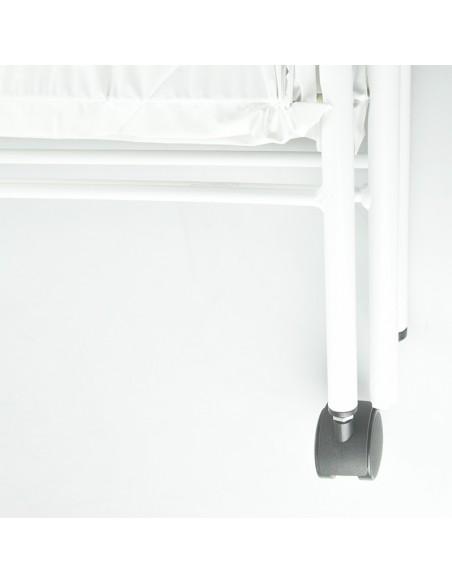 Biombo dos cuerpos de acero esmaltado blanco 2