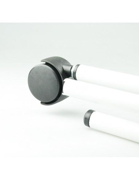 Biombo dos cuerpos de acero esmaltado blanco 3