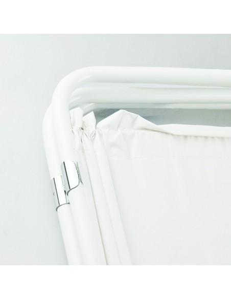 Biombo dos cuerpos de acero esmaltado blanco 4