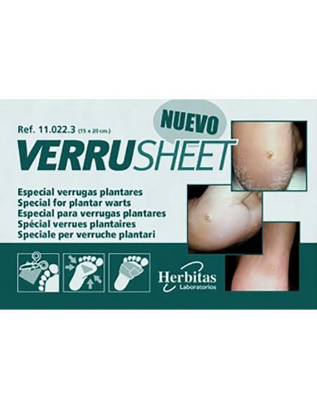 Verruga plantar Tratamiento Verrusheet Herbitas 2
