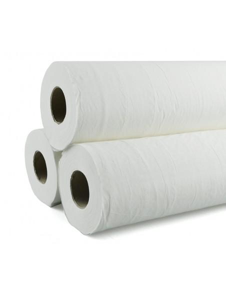 Papel camilla 50 m x 49 cm. Precorte 40 cm.Caja de 6 rollos 1