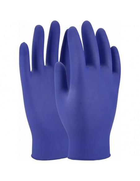 Guante de nitrilo sin polvo azul 4
