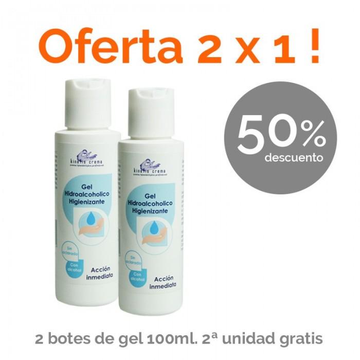 Oferta 2 X1. Gel limpiador de manos higienizante 100 ml. Segunda Ud gratis